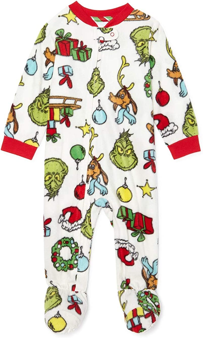 The Grinch who Stole Christmas Matching Family Christmas Pajamas Baby Boy Girl Unisex Grinch Sleeper
