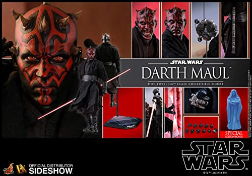 Hot Toys Star Wars Darth Maul Exclusive Special Edition Sixth 1 6 Scale Movie Masterpiece Collectible Figure [with Hologram Bonus Part]
