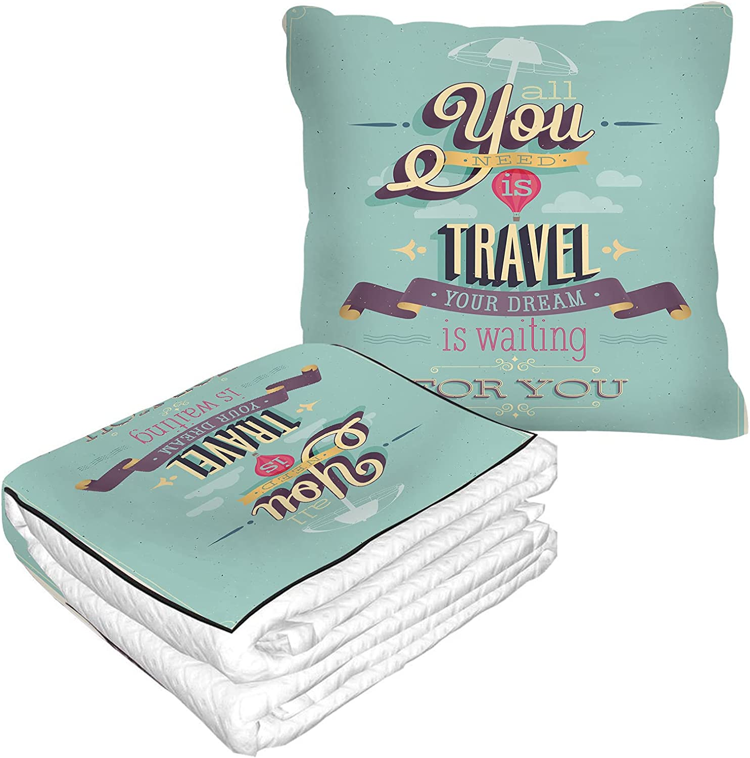EKOBLA Travel Poster Pillow Blanket Need All You Ranking TOP7 Traveler Selling rankings is