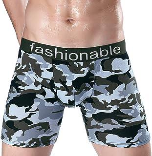 wintom Cotton Stretch Briefs Mutandine da Uomo da Casa Elasticizzati in Tessuto Mimetico Underwear Shorts Soft Boxers Pants