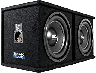 $154 » Seismic Audio - OutRage122 - Dual 12 Inch 2400 Watt Car Audio Subwoofer Box Enclosure with Rear Vent