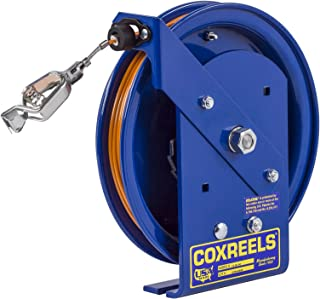 Coxreels EZ-SD-100-1 Safety Series Spring Rewind Static Discharge Cord Reel: 100' cord, stainless steel cord