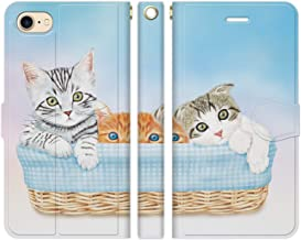 iPhone8 iPhone7 手帳型 ケース カバー 子猫 03 あまみ藤奈 アメリカンショートヘア