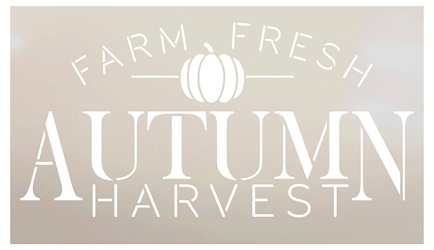 Farm Fresh Autumn Harvest Small Pumpkin Stencil by StudioR12 | Wood Signs | Word Art Reusable | Family Dining Room | Painting Chalk Mixed Media Multi-Media | DIY Home - Choose Size (11
