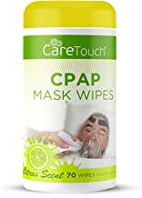 Care Touch CPAP Mask Cleaning Wipes - Scented | 70 Scented Cleaning Wipes for CPAP Masks | Made in The USA
