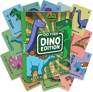 Game Accolades - Go Fish - Dino Edition Card Game - Ages 3 and up