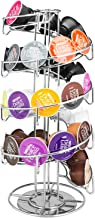 MyGift Rotating Chrome-Plated Wire Spiral Coffee Pod Dispenser, Capsule Storage Rack
