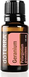 doTERRA - Geranium Essential Oil - Promotes The Appearance of Clear, Healthy Skin, Naturally Repels Insects, Gives Hair a Vibrant, Healthy Glow; for Diffusion, Internal, or Topical Use - 15 mL
