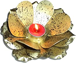 Golden Color With Brown Spotted Design Lotus T light Votive