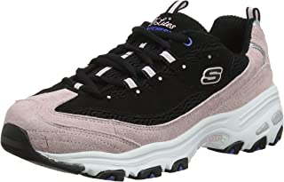Skechers D'Lites Moon View Womens Black/Pink Trainers
