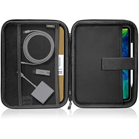 Protective Sleeve for iPad Pro 11 Hubs tomtoc Portfolio Case for 10.9 iPad Air 4//iPad Pro 11 //iPad 10.2//10.5 iPad Air Adapter iPad Carrying Case with Accessory Organizer for Cables iPad Pencil