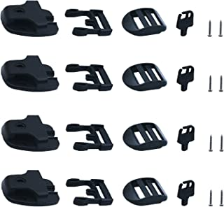 [4 Packs] Tub Cover Latch Broken Latch Repair Kit Repair Clip Lock with Keys and hardwares for Spa Hot Tubs and Others