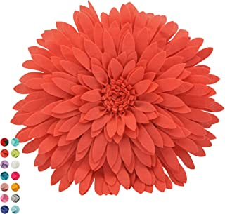 Contempo Lifestyles Flower Decorative Pillow - 3D Daisy Flower Pillow, Sunflower Throw Pillow - Flower Home Decorations - Couch & Bed Flower-Shaped Pillow,Solid Light Coral