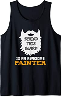 Mens Funny Bearded Painter Gift Ideas for Birthday Christmas Tank Top