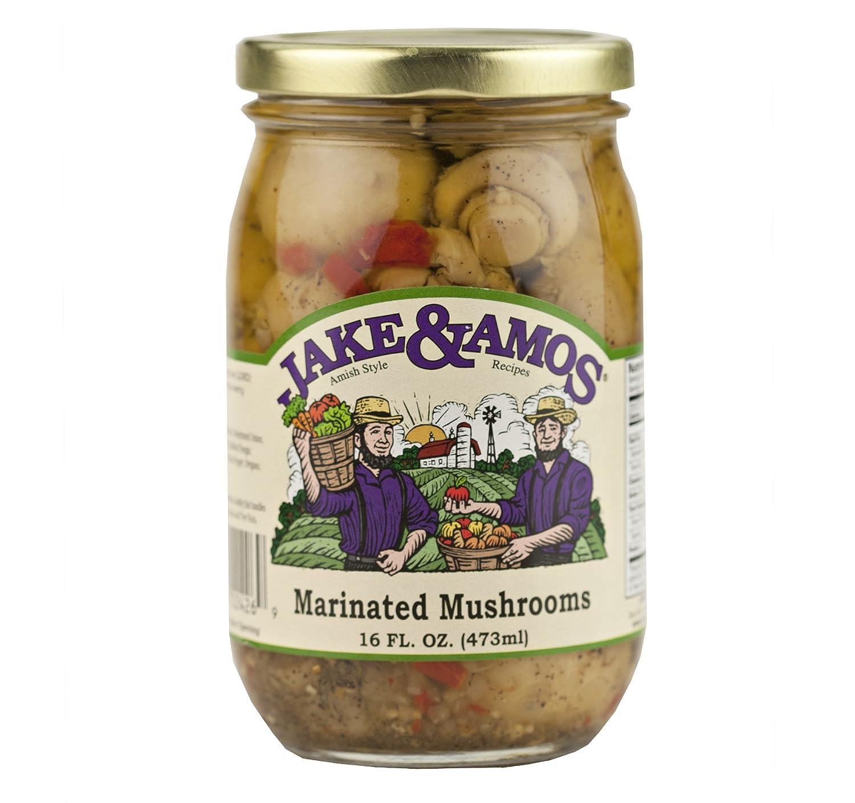 Jake  Amos Marinated Mushrooms 16 oz. (3 Jars)