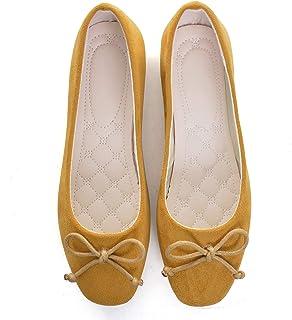 Women Square Toe Bow Ballet Flats Fashion Non Slip Flat Shoes