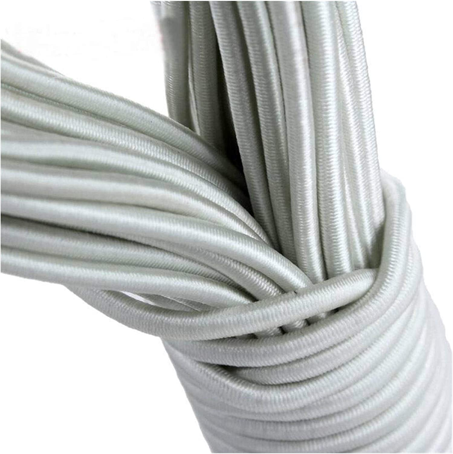 Color : White Yentll 25Meter//Lot Tent Pole DIY Rubber Bands Tent Accessories Rod Rope Elastic Band Gore Hair Strap Bungee Ropes Elastic Waist Band Yentll