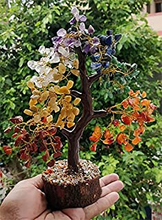 FASHIONZAADI Seven Chakra Gemstone Tree – Healing Crystal Money Trees Feng Shui..