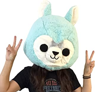 Clever Idiots Animal Head Mask - Plush Costume Halloween Cosplay (Alpaca)
