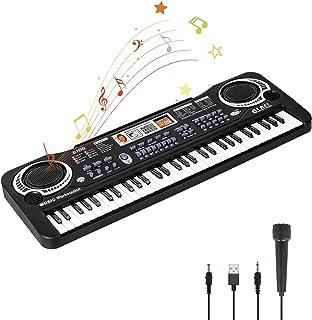 Piano para Niños, Teclado de Piano Niños Piano con Micrófono 61 Teclas Piano Musical Juguetes para Niñas