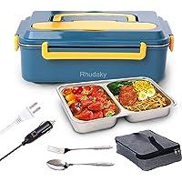 Rhudaky Electric Lunch Box Food warmer w/Fork Spoon & Bag Deals