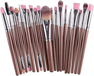Professional 20 Pcs makeup brushes sets Eyeshadow makeup Cosmetics eyebrow foundation cleaning hair brush,005