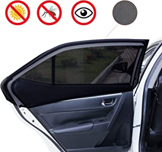 ThermOwl Universal Car Window Sun Shades Mosquito and UV Protection Easy to Install Breathable Extra High Density for Babies and Pets 2 Pack