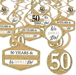 We Still Do - 50th Wedding Anniversary - Anniversary Party Hanging Decor - Party Decoration Swirls - Set of 40
