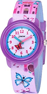 Toddler Kids Boys Girls Fabric Analog Watches Quartz...
