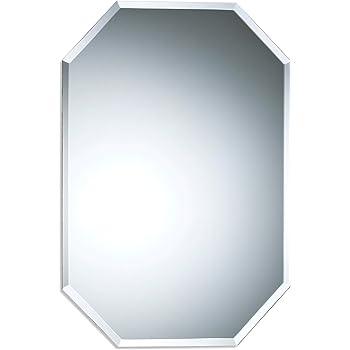 60/x 90/cm Ovale mx Argento Vetro Vanit/à Bagno a Parete Home Specchio da Parete Senza Cornice Ovale con Bordi smussati