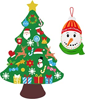 jollylife 3ft DIY Felt Christmas Tree Set Plus Snowman Advent Calendar – Xmas..