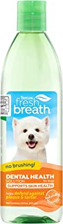 TropiClean Fresh Breath Dental Health Solution Supports Skin Health for Dogs, 16oz - Made in USA