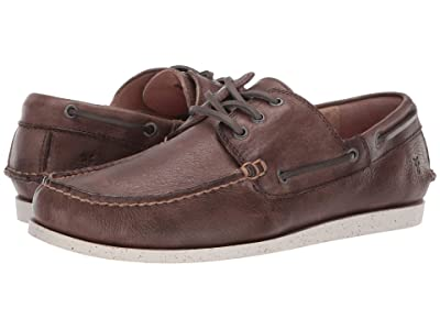 Frye Briggs Boat Shoe (Slate Antique Tumbled Veg Tan) Men