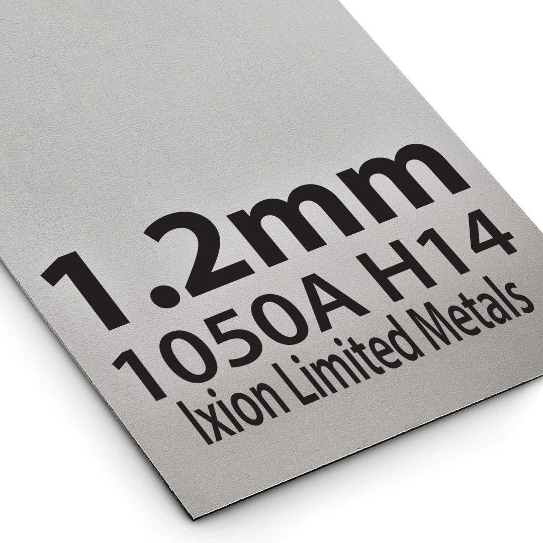 125 x 125mm Aluminium Plate Sheet 1.2mm Thick 1050A H14 Grade