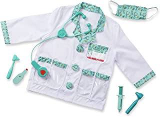 Melissa & Doug 96022 Doctor Role Play Costume Dress-Up Set (7 pcs) Frustration-Free Packaging, Toddler, Multicolor