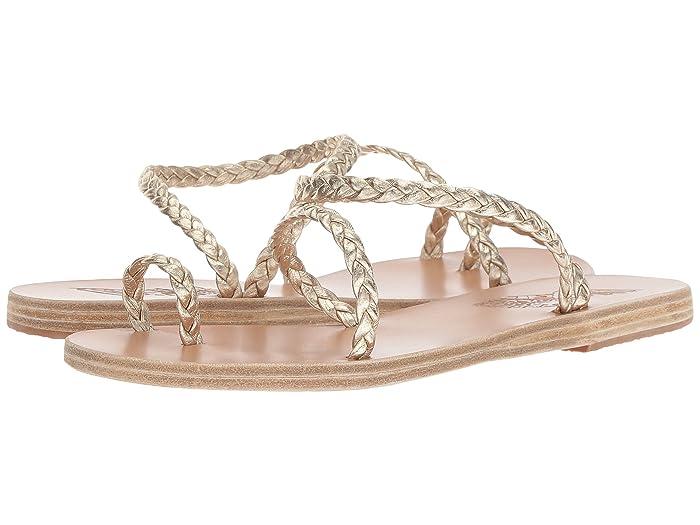 Ancient Greek Sandals  Eleftheria (Platinum/Platinum Nappa) Womens Sandals