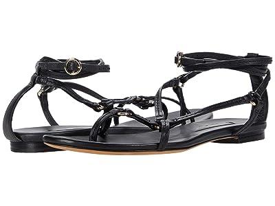 3.1 Phillip Lim Louise Strappy Flat Sandal (Black) Women