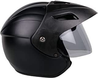 Mototrance Open Face Helmet Matt Black (Size-L, 58-59 cm)