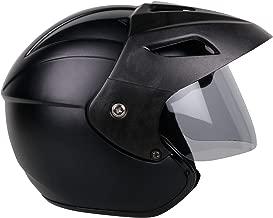 Mototrance Open Face Helmet Matt Black (Size-L, 58-59 cm)
