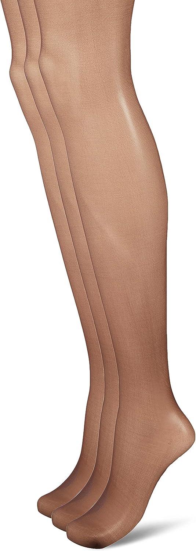HUE womens So Silky Sheer Control Top Pantyhose (Pack of 3)