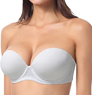 YBCG Push up Strapless Convertible Multiway Thick Padded Underwire Supportive Bra for Women's Wedding