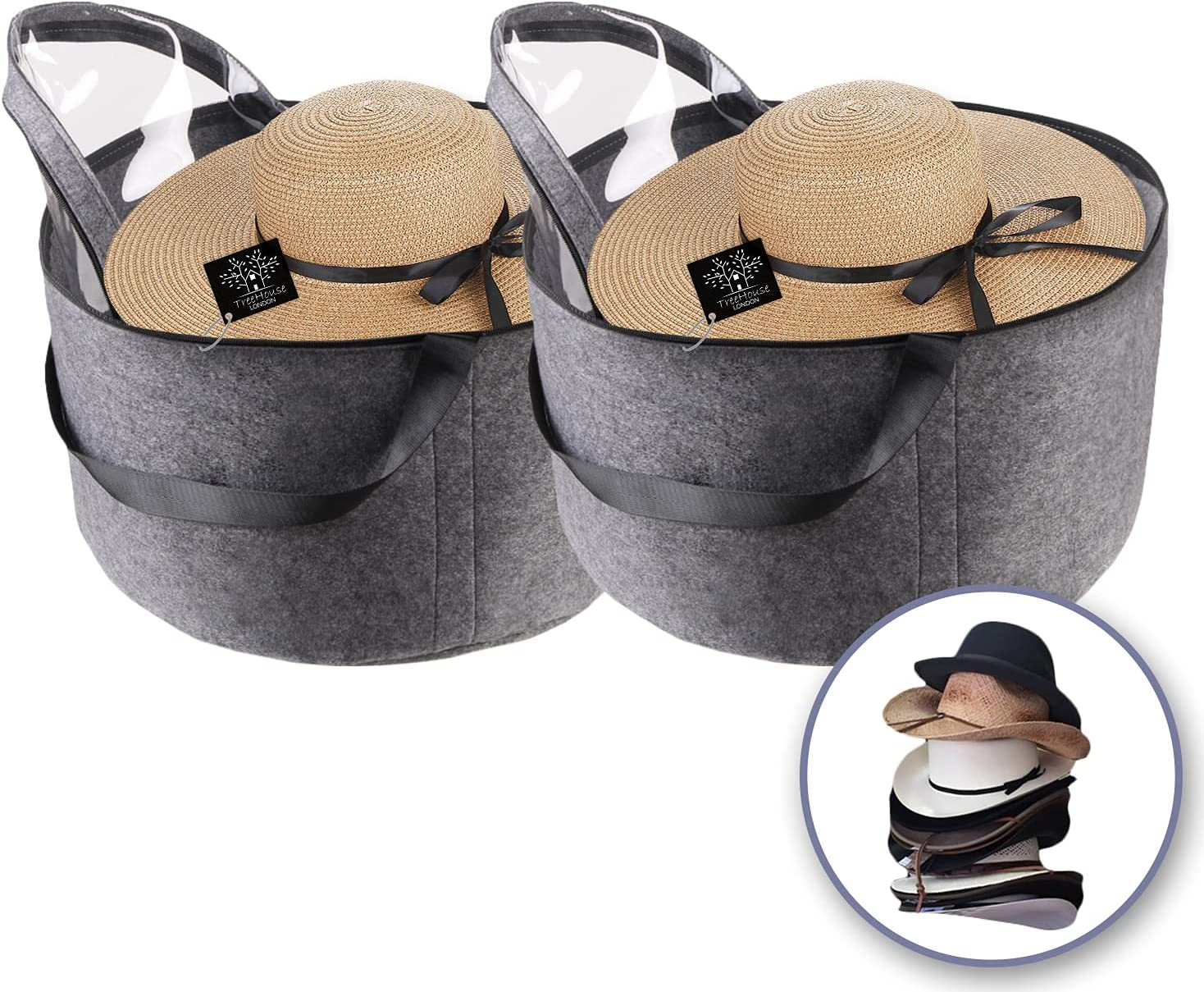 Set of 2 - Extra Large depot Luxury Basket 11.5' Hat Storage online shop Felt Box