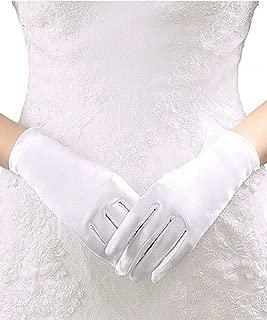 Sunny zeyu Stretch Satin Wrist Length Gloves Short Bridal Dance Gloves G11