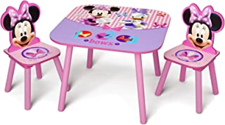 Delta Children Kids Table and Chair Set (2 Chairs Included), Disney Minnie Mouse