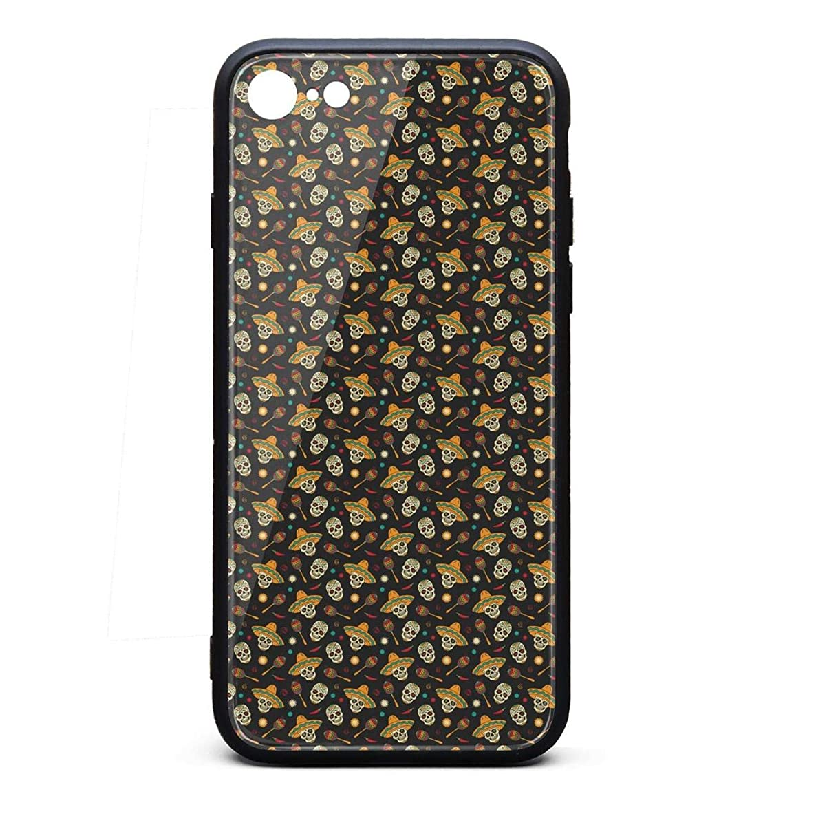 IPhone6 Plus Case/IPhone6S Plus Case Skull Straw hat Chili Love Sugar Printing Anti-Finger Anti-Scratch TPU Heavy Duty Protection Phone Back Cover for iPhone 6 Plus/iPhone 6S Plus