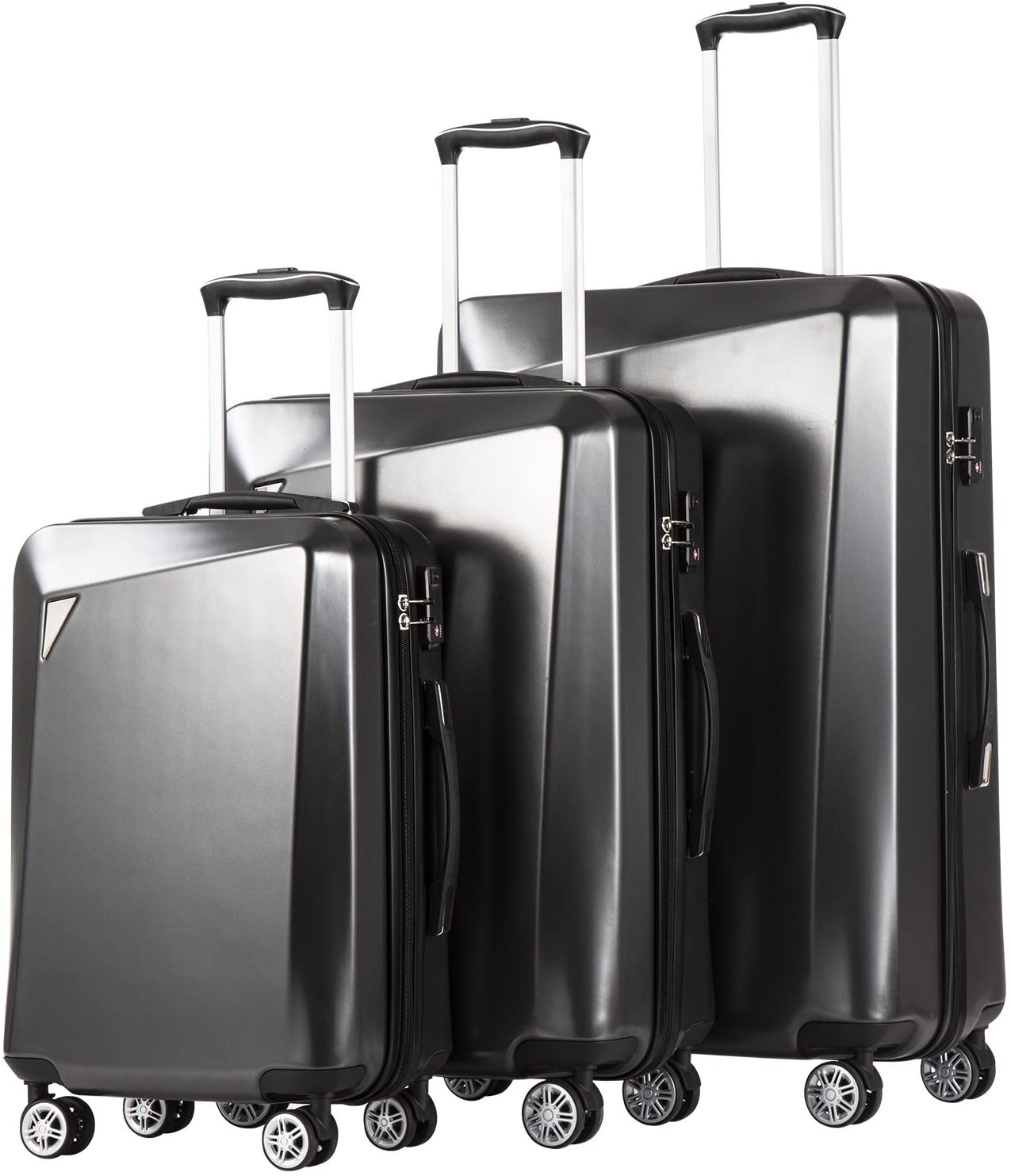 Coolife Luggage 3 Piece Sets PC+ABS Suitcase inch Ranking TOP3 Spinner Max 51% OFF 20 24