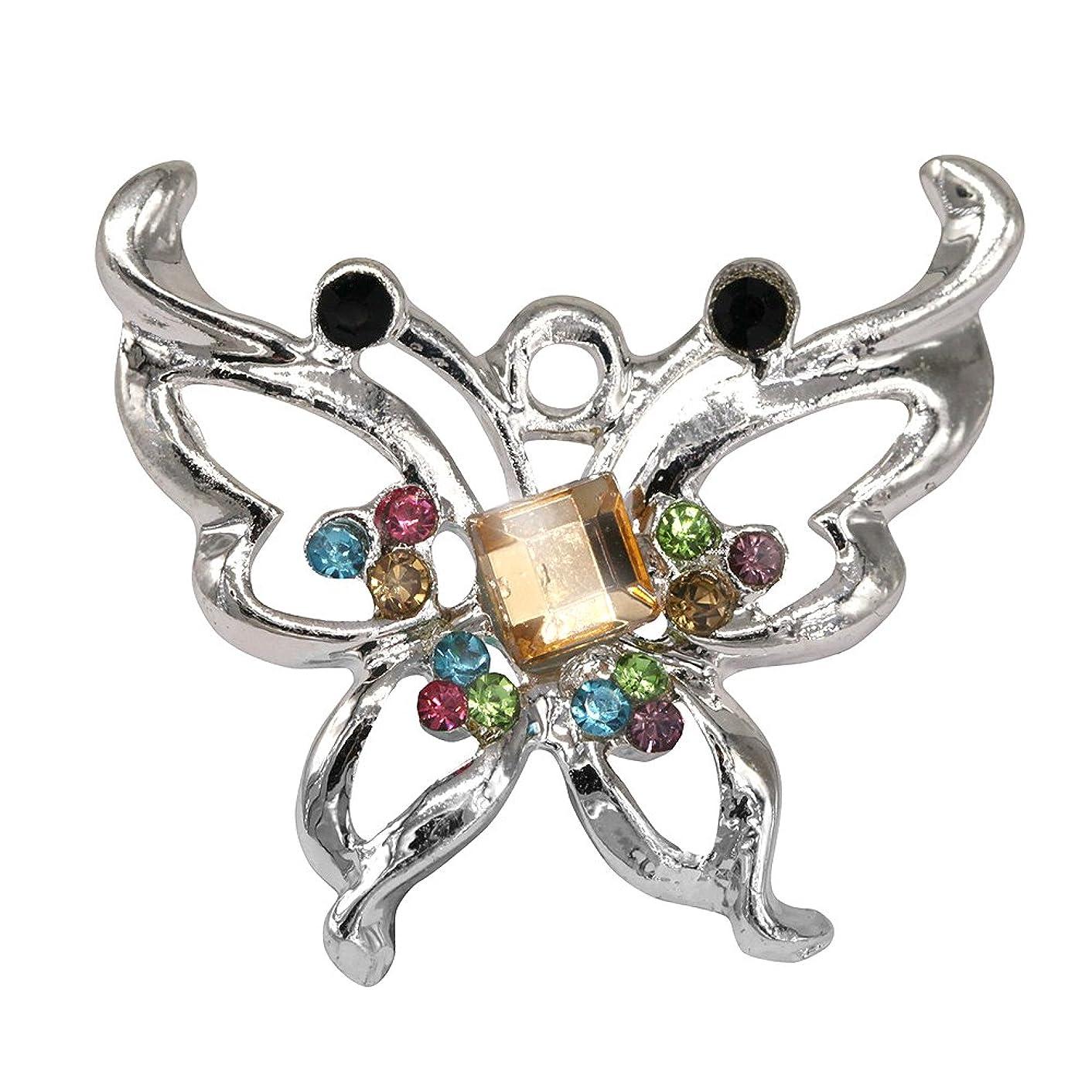 Creative DIY Elegant Rainbow Crystal Butterfly Charms Pendants Wholesale (Set of 3) MH634