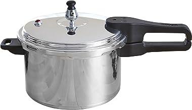 IMUSA USA A417-80801W Stovetop Aluminum Pressure Cooker 7.0-Quart,Silver