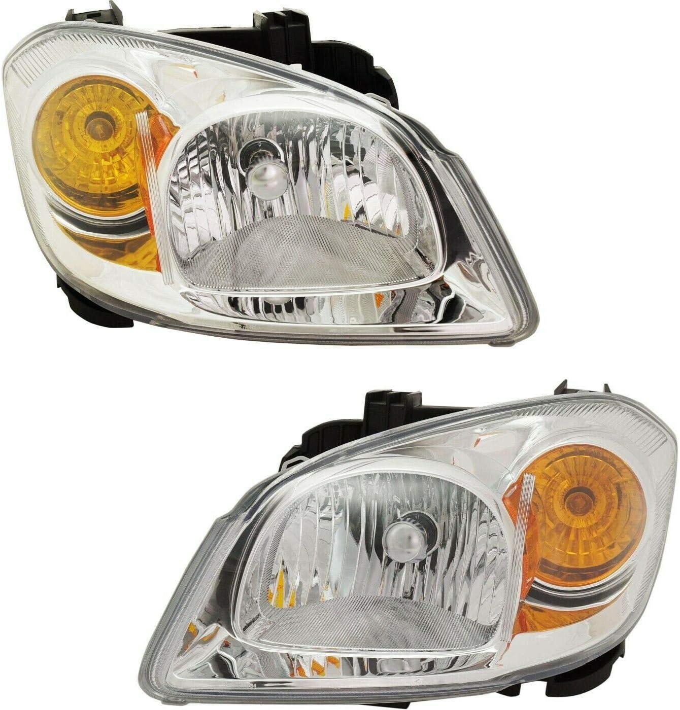 zxz Headlight Philadelphia Mall Set compatible with 2005-2010 Cobalt G5 National uniform free shipping Pursuit Dr