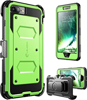 i-Blason Armorbox Series Case Designed for iPhone 7 Plus/iPhone 8 Plus, [Built In Screen Protector] [Full body] [Heavy Duty Protection ] Shock Reduction / Bumper Case (Green)